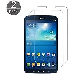 2X Verre Trempé Compatible avec Samsung Galaxy Tab 3 8.0 Pouces SM-T310 T311, Film Protection d'écran en Verre Trempé (HD Ultra Transparent) Dureté 9H Glass Anti Rayure Antichoc et sans Bulles d'air