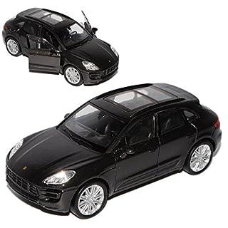 alles-meine.de GmbH Porsche Macan Turbo Schwarz Grau Ab 2014 ca 1/43 1/36-1/46 Welly Modell Auto