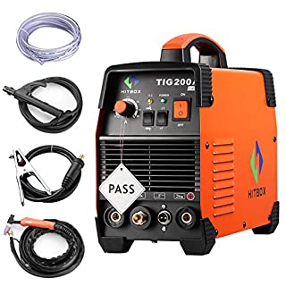 TIG Welding Machine Portable 200 amp High Frequency 220V TIG MMA 200 with TIG Stick IGBT Inverter Welder HITBOX