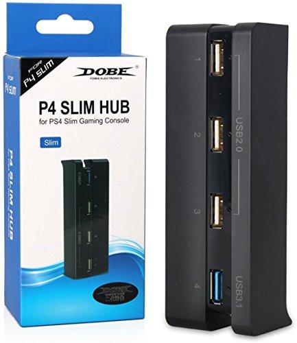 4 puertos USB HUB para PS4 Slim consola (3 x USB 2.0, 1 x USB 3.0) 51ffIMo5TAL