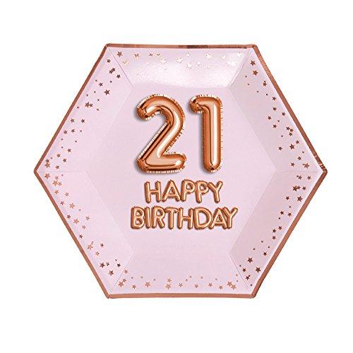 Neviti- Glitz & Glamour-Plate-Large-Pink & Rose Gold-Age 21 Papel (773192)