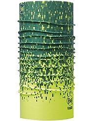 Buff Jok High Pro UV Buff - Pasamontañas y braga, multiusos, unisex, color Amarillo - amarillo, verde y negro, tamaño talla única