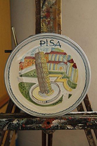 La-torre-di-pisa-Piatto-di-ceramica-decorata-a-mano-Dimensioni-cm205-Realizzato-dallartista-Lucchese-Davide-Pacini-MADE-in-ITALY-Toscana-Lucca-certificato