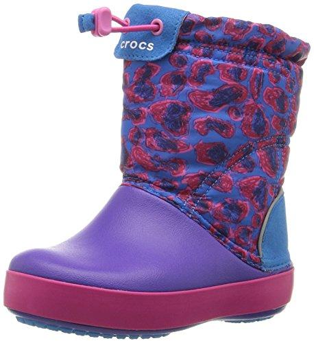 Crocs Cbndldgptgrphk, Sneaker a Collo Alto Unisex - Bambini, Multicolore (Leopard), 22-23 EU