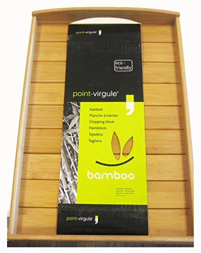 Point-Virgule PV-BAM-1131 Serviertablett Aus Bambus, 48x33x6cm (Depart Points De)