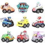 Paw Patrol -Patrulla Canina con su vehículo - set 8 figuras-más 3 años-con bolsa de plastica SIN CAJA- 9.5*5.8*8cm