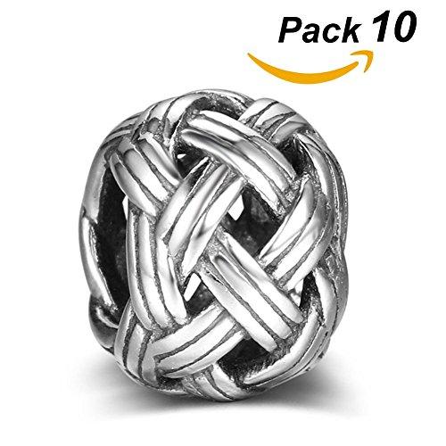 QZY 10 Stücke Viking Retro Perlen DIY Alte Silber Charm Perlen Für Armbänder Anhänger Halskette Bart Haar Perlen