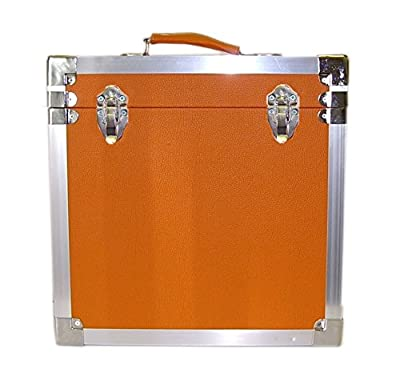 Steepletone LP/Album Vinyl DJ Record Storage Box/Flight Case - Orange