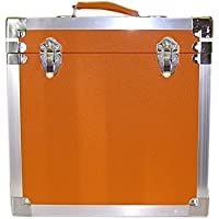 Steepletone LP/Album Vinyl DJ Record Storage Box/Flight Case - Orange