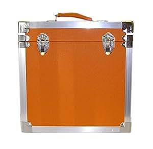 steepletone lp album vinyle dj enregistrement bo te de rangement flight case orange. Black Bedroom Furniture Sets. Home Design Ideas