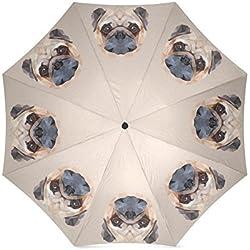 Lovely geometría diseño de CARLINO diseño único plegable paraguas sol lluvia paraguas plegable anti-UV resistente al viento