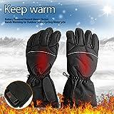 Resistente al agua guantes calefactables con pilas para Moto caza invierno calentador