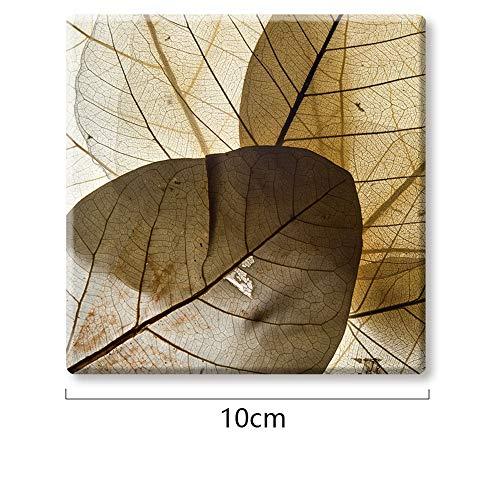 ZCHPDD Quadratische Glasuntersetzer Untersetzer Set Verbrühschutz Büro Dekoration Quadrat 007 10 * 10 * 0.9Cm * 10Pcs