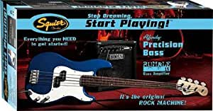 Pack basse Squier Affinity P-Bass bleu metallique