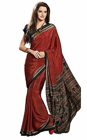 Sudarshan Silks Women's Saree Mandir Kanchan Silk Sarees Chiffon One
