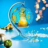 "LED-Kugel ""Weihnachtstraum"" , dekorative Glaskugel"