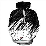 Unisex Paare Snowy Night Hooded Sweatshirt 3D gedrucktes Sweat Shirt Langarm Hoodie Taschen Top