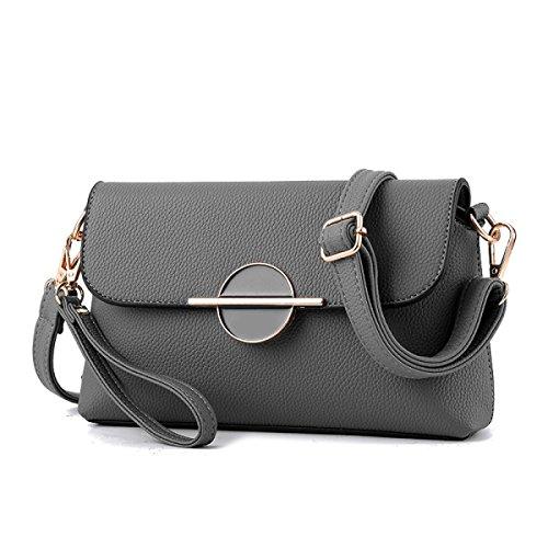 Damen Mini Messenger Tasche Umhängetasche LightGray