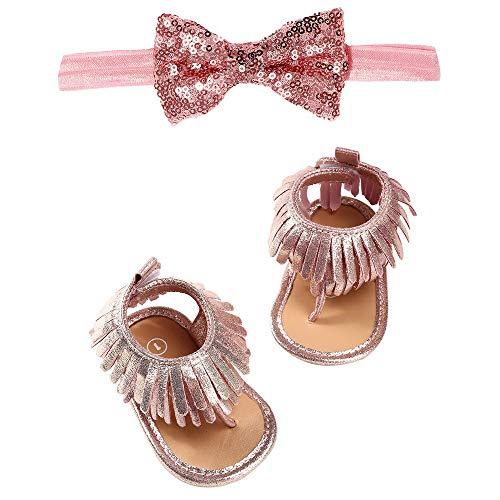 Linlink Babyschuhe Sommer Sandale mit Weichen Sterne Krippe Schuhe Baby Leder Lauflernschuhe Junge Mädchen Kleinkind 0-6 Monate 6-12 Monate 12-18 Monate