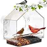 Window Bird House Feeder by Nature Anywhere with Sliding Seed Holder and 4 Extra Strong Suction Cups. Large bird feeders… 2