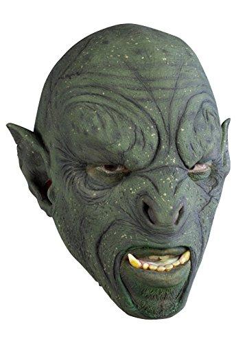 Schaurige Ork- aske, grün Herrenmaske Halloween LARP Cosplay Orkgesicht aus Latex Faschingskostüm