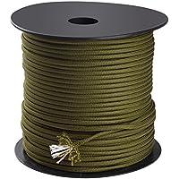 Trexi Paracord-Seil mit 250kg geprüfter Traglast | original 7-Strands-Core | US MIL-Spec 5040-H Type III | 100m Spule | 550 Cord | Fallschirmleine