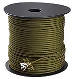 Trexi Paracord-Seil mit 250kg geprüfter Traglast | original 7-Strands-Core | US MIL-Spec 5040-H Type III | 100m Spule | 550 Cord | Fallschirmleine (Oliv-Grün)