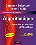 Algorithmique - 3ème édition - Cours avec 957 exercices et 158 problèmes