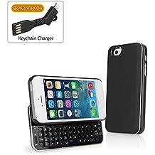 iPhone se, BoxWave® [Teclado Buddy–Funda Backlit Edition con bonificación Llavero Cargador] para Apple iPhone se, 5, color negro