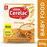 Nestle Cerelac Fortified Baby Cereal with Milk, Wheat Honey – From 8 Months, 300g Pack