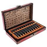 Backbayia 11 Reihen Chinesischer Abakus Traditioneller Zählrahmen Taschenrechner Lernspielzeug