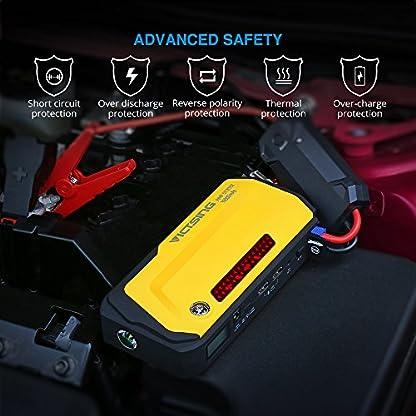 Jump Starter 18000mAh 600A, VicTsing Pack de Emergencia para Arranque de Coche (Cargador de batería para portátil y Smartphone,Dos Puertos USB de Carga y Linterna LED,luz de Advertencia,brújula)