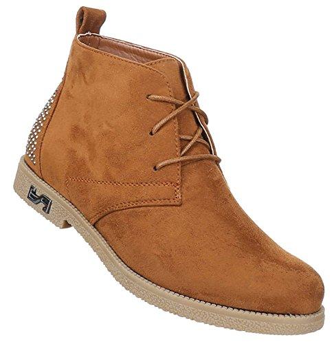 Senhoras Botas Sapatos Botas Laço Camelo Bege 36 37 38 39 40 41