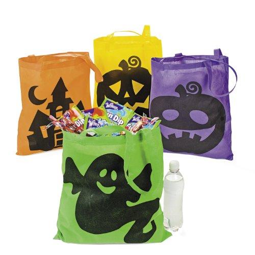 Halloween Sammelbeutel bunt 12 Stück Taschen Beutel Mitgebsel Gastgeschenke Palandi®