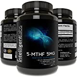5MG L-5 MTHF By Intelligent Labs, L-5-methyltetrahydrofolate Activated Folic Acid Supplement as Quatrefolic Acid. Acitvated Folate from Intelligent Labs