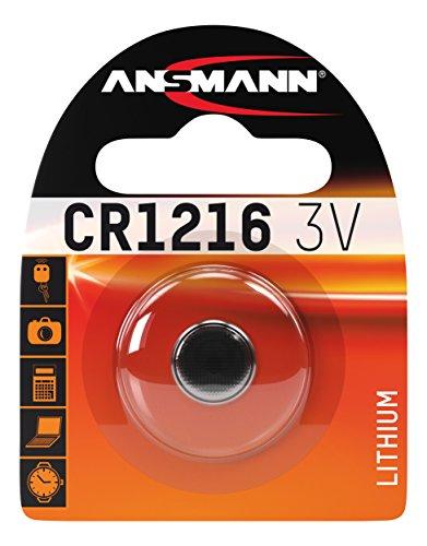 Ansmann 1516-007 CR 1216 - Pilas de botón, batería Litio -...