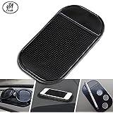 Jatrade (Pack of 1) Premium Phone Holder Vehicle Car Non-Slip Mat Pad/Very Good Grip/Adhesive Mat Adhesive Mat/Does Not Go Softener/Holds iPhone Very Good/Stink Black 51/4x 23/4Top.