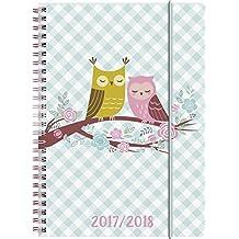 Brunnen 1072985038 Schülerkalender Eule (1 Woche in 2 Seiten, August 2017 bis Juli 2018)
