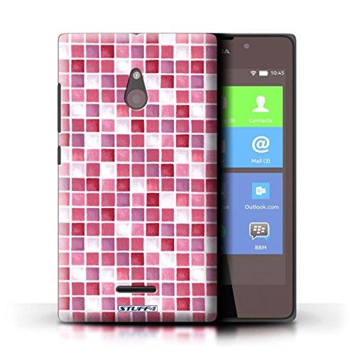 Kobalt® Imprimé Etui / Coque pour Nokia XL / Bleu/Blanc conception / Série Carreau Bain Rouge/Rose