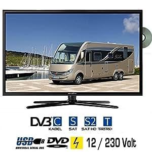 "Reflexion LDD-1966 Téléviseur LED 19"" 48 cm, DVB-S/S2, DVB-T, DVB-C, DVD et USB classe énergétiqueB 230V +12Volt"