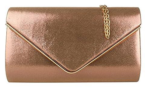 Girly HandBags Metallic Frame Clutch Bag -- Champagne