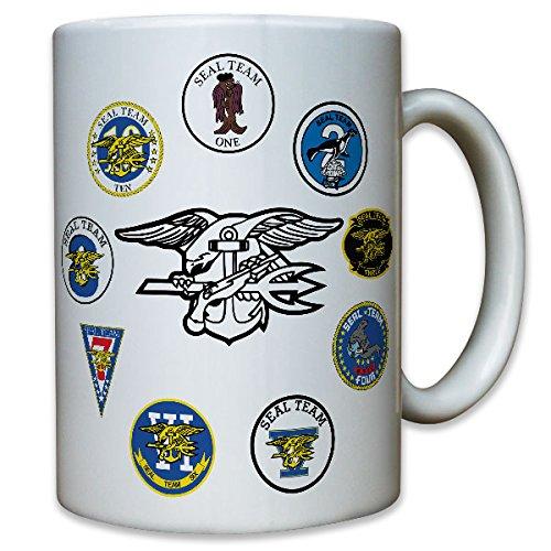 Seal-abzeichen (Navy Seals Team US United States Adler Spezialeinheit Wappen Patch Abzeichen - Tasse Becher Kaffee #9965)