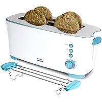 Cecotec Tostadora de Pan Toast&Taste para 4 Tostadas, Soporte para Panecillos, 1350 Watts