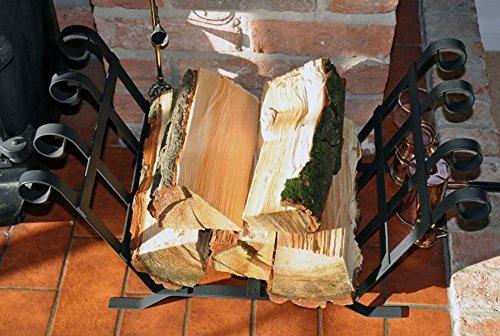 Large Metal Log Basket with Scrolls