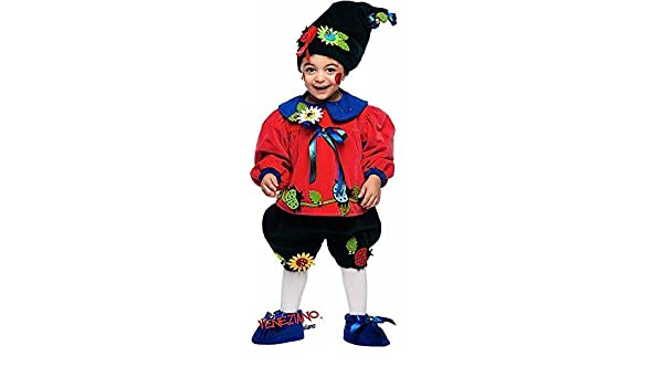 Italian Made Baby Boys Deluxe Flowerpot Gnome Fancy Dress Costume Outfit 0-3 yrs