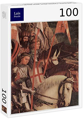 Lais Puzzle Jan Van Eyck - Genter Altar, Altar des Mystischen Lammes, Die Gerechten Ritter (Kopie) 100 Teile -