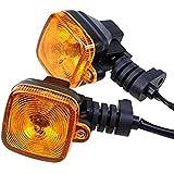 2×Chytaii Motorrad Blinkerleuchten Blinker Licht Lampe Motorrad Blinkergläser für Motorrad Umbau