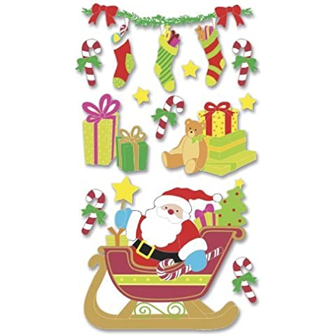 Jolee's Christmas Stickers, Santa Sleigh by