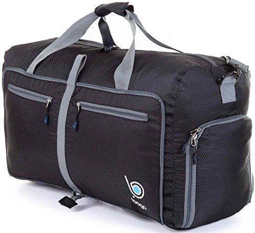 Bago Borsone Per Viaggio Bagaglio Palestra Sport Campeggio - Leggero e Pieghevole in se stessa. Borsone (Taglia Media 22'', Nero)