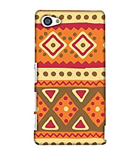 PrintHaat Designer Back Case Cover for Sony Xperia Z5 Compact :: Sony Xperia Z5 Mini  (designer pattern :: decorative design :: zig zag design :: multicolor design :: latest trendy design :: excellent drawing design :: good looking art design :: in black, green, red, blue and yellow)